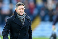 Bristol City Manager Lee Johnson looks on prior to kick off. The Emirates FA cup 4th round match, Burnley v Bristol City at Turf Moor in Burnley, Lancs on Saturday 28th January 2017.<br /> pic by Chris Stading, Andrew Orchard Sports Photography.