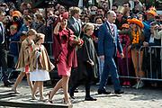 Koningsdag in Dordrecht / Kingsday in Dordrecht<br /> <br /> Op de foto / On the photo: <br /> <br />  Koning Willem-Alexander en Koningin Maxima met hun dochters, Prinses Amalia , Prinses Alexia en Prinses Ariane<br /> <br /> King Willem-Alexander and Queen Maxima with their daughters, Amalia, Princess Alexia and Princess Ariane