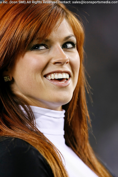 27 Nov 2008: A Philadelphia Eagles cheerleader before the game against the Arizona Cardinals on November 27th, 2008. The Eagles won 48 to 20 at Lincoln Financial Field in Philadelphia, Pennsylvania.