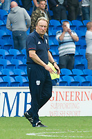 Football - 2017 / 2018 Championship - Cardiff City vs. Aston Villa<br /> <br /> <br /> Cardiff City manager Neil Warnock on the pitch  after his team win 3-0, at Cardiff City Stadium<br /> <br /> COLORSPORT/WINSTON BYNORTH