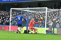 Football - 2018 / 2019 Premier League - Chelsea vs. Huddersfield Town<br /> <br /> Gonzalo Higuaín of Chelsea scores his team's first goal, at Stamford Bridge.<br /> <br /> COLORSPORT/WINSTON BYNORTH
