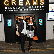 HunnyB - Jennifer Lopez lookalike arrived with Husband Zayne Gawanab BBC1 All Together Now Series 1 Cast Members, fright night at The London Bridge Experience & London Tombs on 28 October 2018, London, UK.