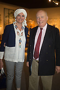 EMMA KITCHENER-FELLOWES; JULIAN FELLOWES, The LAPADA Art & Antiques Fair - private view, Berkeley Sq. London. 12  September 2016