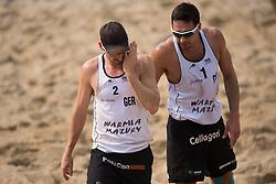 04.07.2013, Lake Szelag, Stare Jablonki, POL, FIVB Beach Volleyball Weltmeisterschaft, im Bild Kay Matysik (#2 GER), Jonathan Erdmann (#1 GER), // during the FIVB Beach Volleyball World Championships at the Lake Szelag, Stare Jablonki, Poland on 2013/07/04. EXPA Pictures © 2013, PhotoCredit: EXPA/ Eibner/ Kurth ***** ATTENTION - OUT OF GER *****