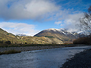 The Hope River, Dismal Valley and the Glynn Wye Range, Canterbury, New Zealand, on the way to Lewis Pass; June 2013