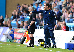 Bristol Rovers manager Darrell Clarke gives his players directions. - Mandatory by-line: Alex James/JMP - 14/04/2017 - FOOTBALL - MEMS Priestfield Stadium - Gillingham, England - Gillingham v Bristol Rovers - Sky Bet League One