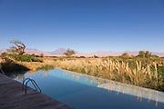 Swimming pool at Tierra Atacama Hotel, San Pedro de Atacama, Atacama Desert, Chile, South America