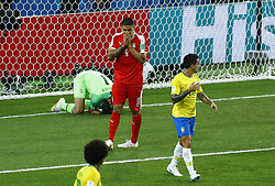 June 27, 2018 - Moscow, Russia - Group E Serbia v Brazil - FIFA World Cup Russia 2018.Aleksandar Mitrovic (Serbia)after a missed goal at Spartak Stadium in Moscow, Russia on June 27, 2018. (Credit Image: © Matteo Ciambelli/NurPhoto via ZUMA Press)