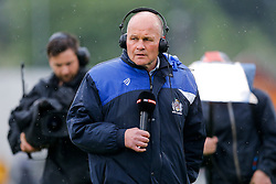 Bristol Rugby Director of Rugby Andy Robinson speaks to Sky Sports ahead of kick off - Mandatory byline: Rogan Thomson/JMP - 18/05/2016 - RUGBY UNION - Castle Park - Doncaster, England - Doncaster Knights v Bristol Rugby - Greene King IPA Championship Play Off FINAL 1st Leg.