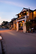 View of an old Hoi An house at dusk, from the street