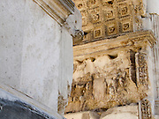Italy, Rome, Arch of Titus, (Titus gate or Arcus Titi) - the conquering of Jerusalem.