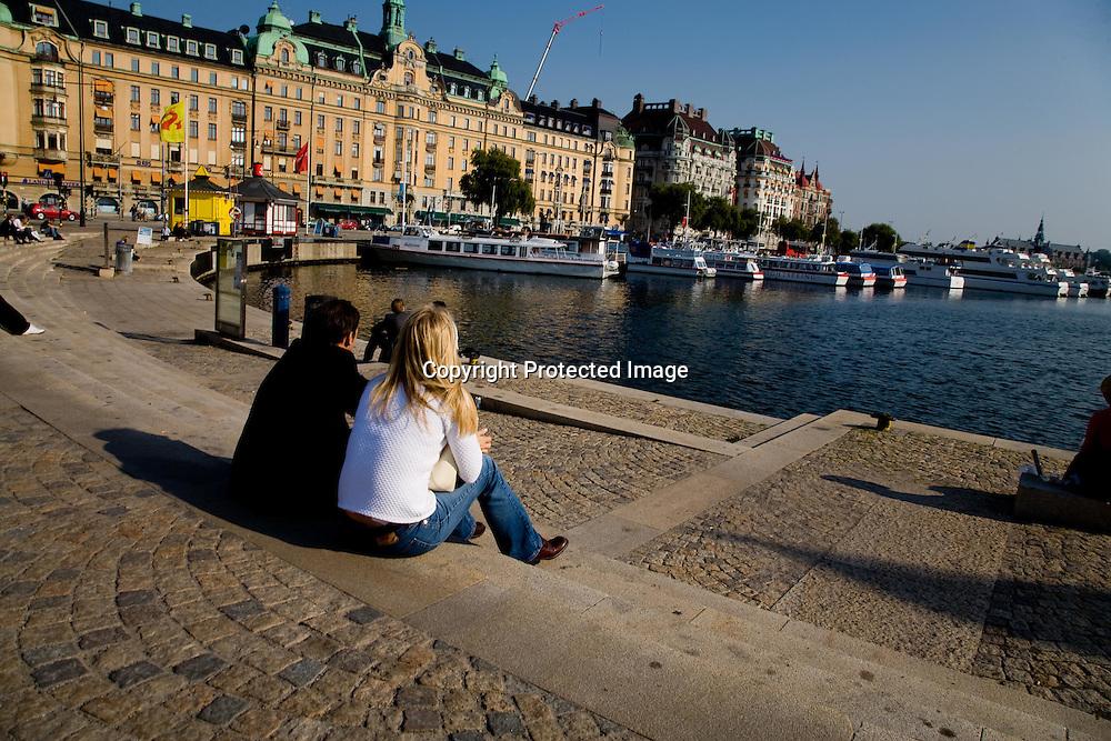 SWEDEN- STOKHOLM - 26/09/2006 : Quays, bridges and canals in the city center, on the Baltic sea  .///.les quais, les ponts, les canaux le centre ville, sur la mer baltique