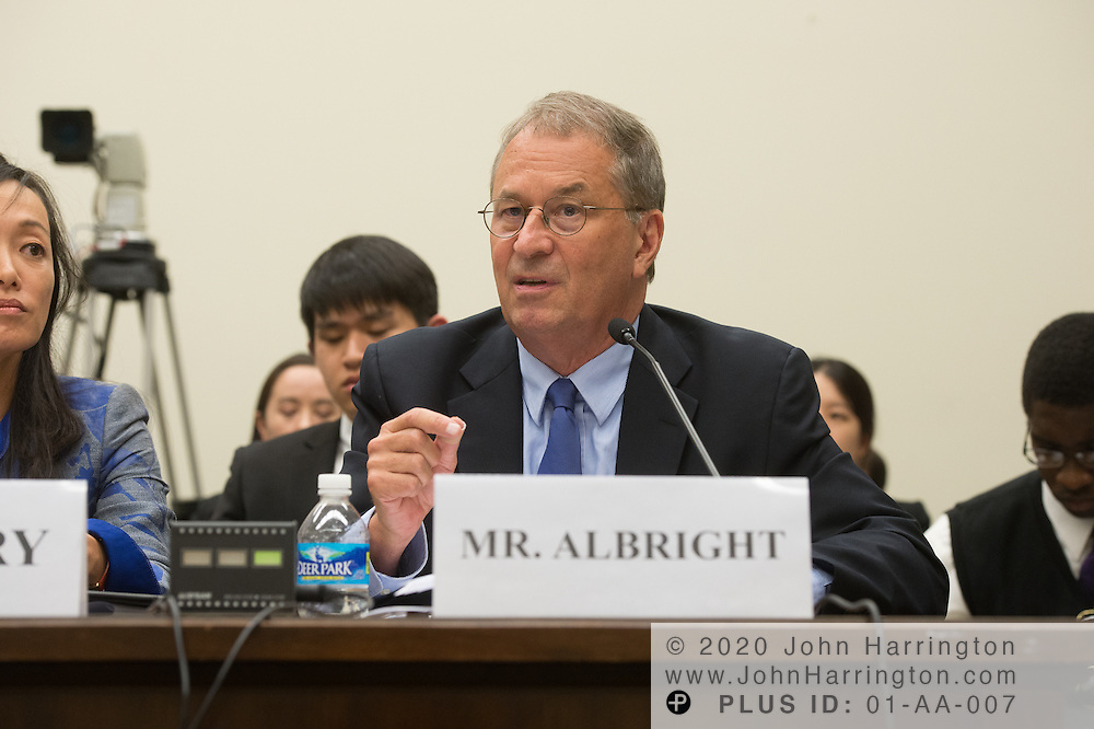 Mr. David Albright, President and Founder, Institute for Science and International Security testifies on Wednesday September 14, 2016 hearing before the U.S. House Foreign Affairs Committee on North Korea's Perpetual Provocations: Another Dangerous, Escalatory Nuclear Test, with testimony from <br /> Victor Cha, Ph.D., Senior Adviser and Korea Chair, Center for Strategic and International Studies;  Mr. Bruce Klingner, Senior Research Fellow for Northeast Asia, The Heritage Foundation; Sue Mi Terry, Ph.D., Managing Director, Bower Group Asia; Mr. David Albright, President and Founder, Institute for Science and International Security.