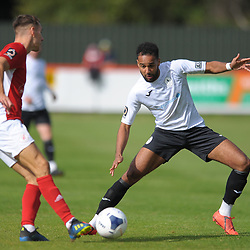 TELFORD COPYRIGHT MIKE SHERIDAN Brendon Daniels of Telford during the National League North fixture between Brackley Town and AFC Telford United at St James's Park on Saturday, September 7, 2019<br /> <br /> Picture credit: Mike Sheridan<br /> <br /> MS201920-016
