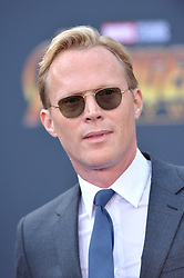 Paul Bettany attends the World Premiere of Avengers: Infinity War on April 23, 2018 in Los Angeles, CA, USA. Photo by Lionel Hahn/ABACAPRESS.COM
