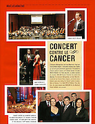 Snapshots from Concert contre le cancer published in MTL Centre Ville magazine