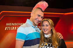 10.03.2015, WDR Studios, Stuttgart, GER, Menschen bei Maischberger, die Vorurteilsfalle gute Muslime boeser Islam, im Bild Andreas Thiel (Kabarettist) und Idil Baydar (Comedian) // during the television broadcast People and Politics on the topic of good Muslims wicked Islam at WDR Studios in Stuttgart, Germany on 2015/03/10. EXPA Pictures © 2015, PhotoCredit: EXPA/ Eibner-Pressefoto/ Schueler<br /> <br /> *****ATTENTION - OUT of GER*****