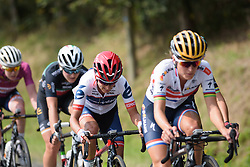 Ashleigh Moolman Pasio in the break toward the end of the fourth lap at Grand Prix de Plouay Lorient Agglomération a 121.5 km road race in Plouay, France on August 26, 2017. (Photo by Sean Robinson/Velofocus)