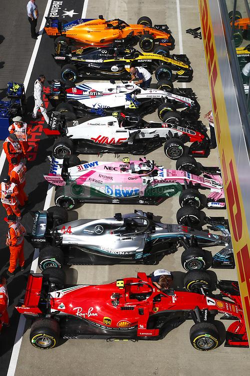 July 8, 2018 - Silverstone, Great Britain - Motorsports: FIA Formula One World Championship 2018, Grand Prix of Great Britain, .Parc ferme  (Credit Image: © Hoch Zwei via ZUMA Wire)