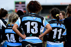 SW Comms branding on the back of the Exeter Chiefs Women shirts - Mandatory by-line: Ryan Hiscott/JMP - 07/03/2020 - SPORT- Sandy Park - Exeter, United Kingdom - Exeter Chiefs Women v Army Women