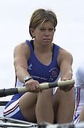 2002 FISA World Cup. Hazewinkel. BEL.       Friday  14/06/2002     .email images@Intersport-images.com.[Mandatory Credit: Peter Spurrier/Intersport Images]  .                                 /06/2002.Rowing. ..GBR W4- .Ali BARNES Rowing, FISA WC.Hazenwinkel, BEL