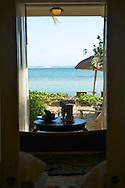 Mauritius Island. Room with views to the beach at Le Telfair Hotel