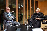 12 DEC 2018, BERLIN/GERMANY:<br /> Wolfgang Kubicki (L), FDP, Vizepraesident Deutscher Bundestag, und Claudia Roth (R), B90/Gruene, Vizepraesidentin Deutscher Bundestag, waehrend einem gemiensamen Interview, Jakob-Kaiser-haus, Deutscher Bundestag<br /> IMAGE: 20181212-02