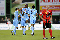 FOOTBALL - FRENCH CHAMPIONSHIP 2010/2011 - L2 - US BOULOGNE v AC AJACCIO - 6/05/2011 - PHOTO JEAN MARIE HERVIO / DPPI - JOY AJACCIO AFTER PAUL LASNE'S GOAL