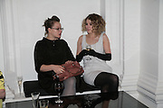 SAMANTHA MORTON AND ROSAMUND PIKE, Cos Collection launch. Launch of new Hennes And Mauritz brand. Royal academy of Arts. Burlington Place. london. 14 march 2007.  -DO NOT ARCHIVE-© Copyright Photograph by Dafydd Jones. 248 Clapham Rd. London SW9 0PZ. Tel 0207 820 0771. www.dafjones.com.