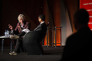 20th International AIDS Conference (AIDS 2014). International AIDS Society, at the Exhibition Centre, Melbourne, Australia. <br /> THSS02<br /> Waleed Aly from ABC in 'A Conversation with Sir Bob Geldof: HIV and Poverty - The Challenges Ahead'.<br /> Photo: International AIDS Society/Steve Forrest
