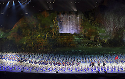 JAKARTA, Aug. 18, 2018  Delegation of China enters the Gelora Bung Karno (GBK) Main Stadium at the opening ceremony of the 18th Asian Games in Jakarta, Indonesia, Aug. 18, 2018. (Credit Image: © Zhu Wei/Xinhua via ZUMA Wire)