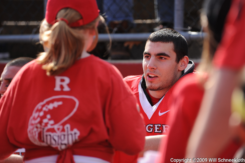 Apr 18, 2009; Piscataway, NJ, USA; Rutgers RB Joe Martinek (38) signs autographs at the fan festival held after Rutgers' Scarlet and White spring football scrimmage.