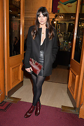 LILAH PARSONS at the Cirque Du Soleil's VIP performance of Kooza at The Royal Albert Hall, London on 6th January 2015.