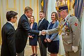Koning ontvangt ambassadeurs Frankrijk, Angola en Mexico