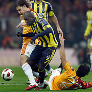 Fenerbahce's Mamadou NIANG (C) during their Turkish superleague soccer derby match Galatasaray between Fenerbahce at the Turk Telekom Arena in Istanbul Turkey on Friday, 18 March 2011. Photo by TURKPIX