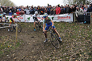 Friday 1 November 2013: Bart Aernouts (#6) leads Marcel Meisen (#24) and Thijs van Amerongen (#21) during the Koppenbergcross 2013 elite men's race. Copyright 2013 Peter Horrell