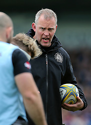 Exeter Chiefs' Forwards Coach Rob Hunter gives out instruction to players during the Aviva Premiership match at Sandy Park, Exeter. PRESS ASSOCIATION Photo. Picture date: Saturday April 28, 2018. See PA story RUGBYU Exeter. Photo credit should read: Mark Kerton/PA Wire. RESTRICTIONS: Editorial use only. No commercial use.