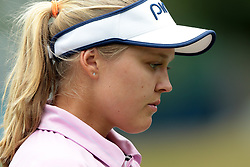 July 14, 2018 - Sylvania, Ohio, United States - Brooke Henderson of Canada walks on the third hole during the third round of the Marathon LPGA Classic golf tournament at Highland Meadows Golf Club in Sylvania, Ohio USA, on Saturday, July 14, 2018. (Credit Image: © Jorge Lemus/NurPhoto via ZUMA Press)
