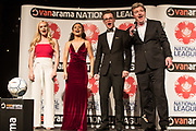 Martin Toal and singers during the National League Gala Awards at Celtic Manor Resort, Newport, United Kingdom on 8 June 2019.
