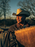 """BELL BUCKLE, Tenn. - Dec. 26, 2020: Corey Lea, a beef and pork rancher in Murfreesboro, Tenn., who also advocates for Black farmers, tells of losing a farm in Kentucky """"due to Vilsack's inactions."""" With a pending discrimination case with the USDA, he wanted to build a house on a piece of property, with loan approval from a private bank.<br /> 'But the USDA would not take the loan subordination for the refinance so I could build a house,"""" he said. """"They had a USDA appraiser come out and devalue my property. Not only did they get the money I owed them, they kept an additional $175,000. I lost the land and everything else. My story pales compared to some I could tell you.'""""<br /> <br /> <br /> (Photo by William DeShazer for The Washington Post)"""