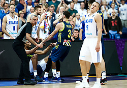 Anthony Randolph of Slovenia and Goran Dragic of Slovenia during basketball match between National Teams of Finland and Slovenia at Day 3 of the FIBA EuroBasket 2017 at Hartwall Arena in Helsinki, Finland on September 2, 2017. Photo by Vid Ponikvar / Sportida