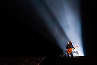 """Dave Kilminster, guitarist, plays """"Comfortably Numb"""", Roger Waters' The Wall Live (an audio visual specatacle including 3D Animation and pyrotechnics) at the Pepsi Center, Denver, Colorado USA"""