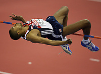 Photo: Rich Eaton.<br /> <br /> EAA European Athletics Indoor Championships, Birmingham 2007. 04/03/2007. Martyn Bernard of Great Britain wins bronze in the mens high jump