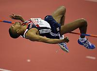 Photo: Rich Eaton.<br /> <br /> EAA European Athletics Indoor Championships, Birmingham 2007. 04/03/2007. Martyn Bernard of Great Britain wins bronze in the mens high jump