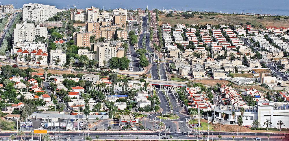 Aerial view of Nahariya, Galilee, Israel