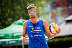 Jernej Potocnik of Debitel during Qlandia Beach Challenge 2015 and Beach Volleyball Slovenian National Championship 2015, on July 25, 2015 in Kranj, Slovenia. Photo by Ziga Zupan / Sportida