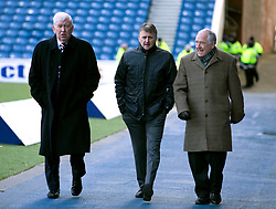 L-R: John Greig, Bobby Russell and Andy Cameron during the Ladbrokes Scottish Premiership match at Ibrox Stadium, Glasgow.