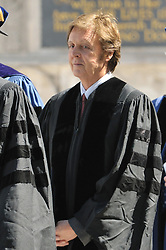 Yale Commencement 2008 Procession and Ceremonies. Conferring of Honorary Doctor of Music Degree, Mus. D, to Sir Paul McCartney on Old Campus, Yale University, New Haven, CT