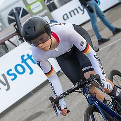 11-03-2021: Wielrennen: Healthy Ageing Tour: Lauwersoog. <br />Lena Charlotte Reissner