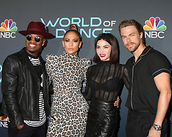 May 1, 2018 - North Hollywood, California, U.S. - NE-YO, JENNIFER LOPEZ, JENNA DEWAN, DEREK HOUGH at the World of Dance FYC Event at Saban Center, TV Academy. (Credit Image: © Kathy Hutchins via ZUMA Wire)